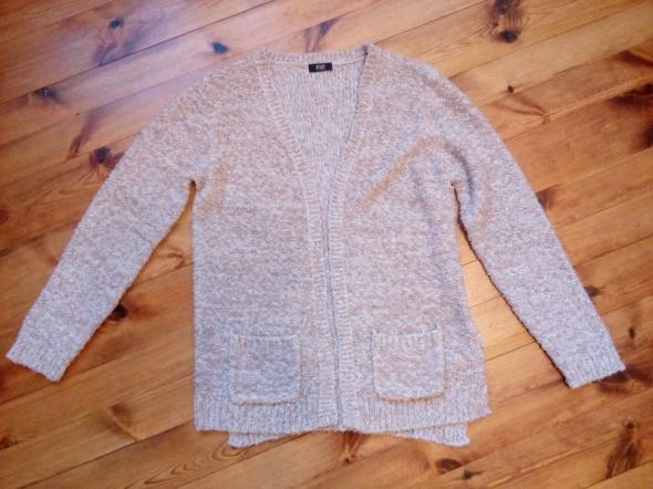 Swetry Supełkowy kardigan narzutka XL