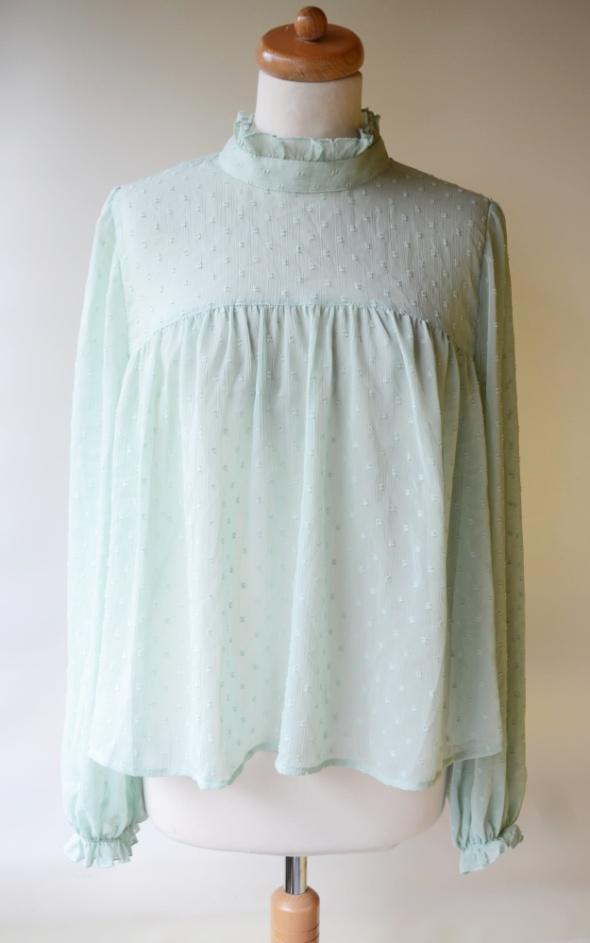 Koszula Gina Tricot XXL 44 Mgiełka Miętowa Tłoczony Wzór