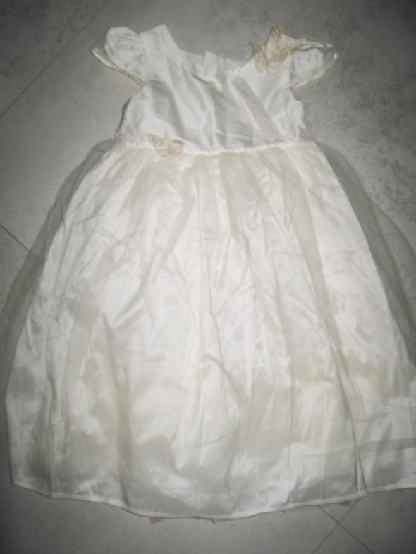 NEXT ecru sukienka z motylkami roz 110