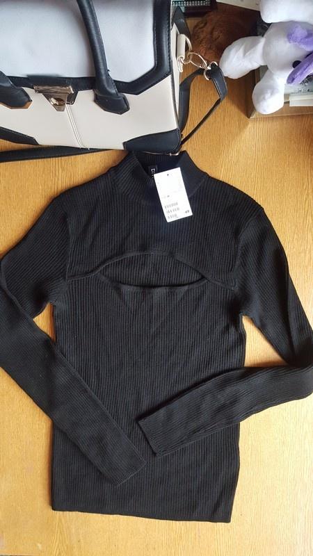 Nowy czarny sweterek golf h&m s
