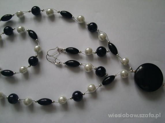 PRZEPIĘKNY KOMPLET kamień perły