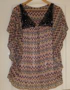 bluzka Zara wzór aztecki 36 38