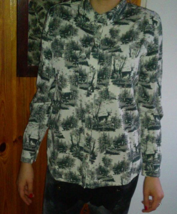 Koszula Selected z motywem zwierzęcym 38