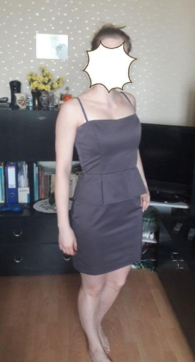 Sukienka z baskinką pretty girl M