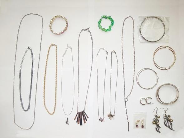 zestaw biżuterii naszyjnik kolczyki bransoletka 18 szt
