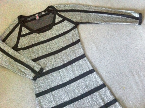 Srebrna tunika sukienka S...