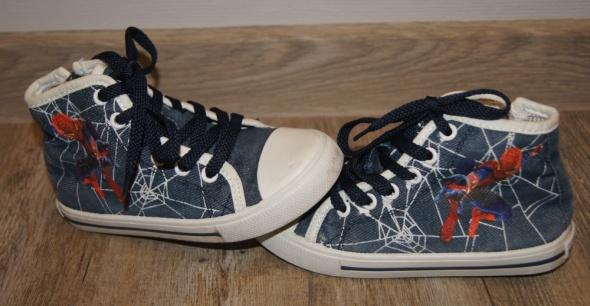 Buty buciki chłopiec sznurowane zip za kostkę Spiderman rozm 29