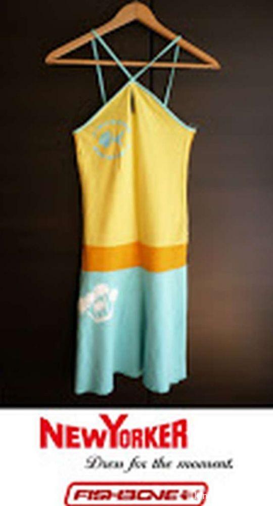 Żółto błękitna sukienka na lato New Yorker xs 34...