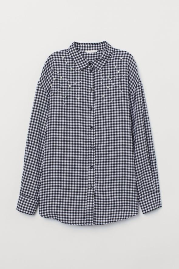 Koszule Koszula w kratkę i z perełkami
