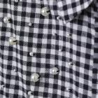 Koszula w kratkę i z perełkami