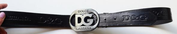 Pasek Czarny Klamra Dolce&Gabbana D&G Czerń 124 cm