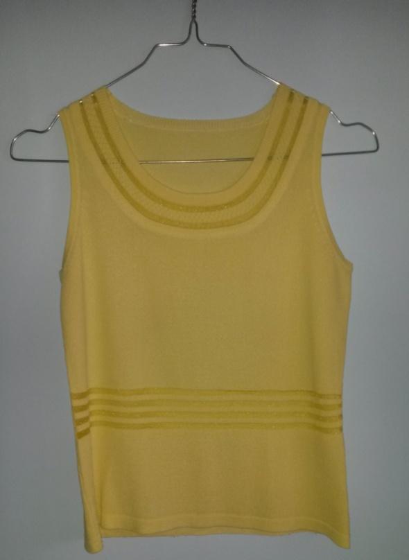 Żółta bluzka bez rękawa 36 S...