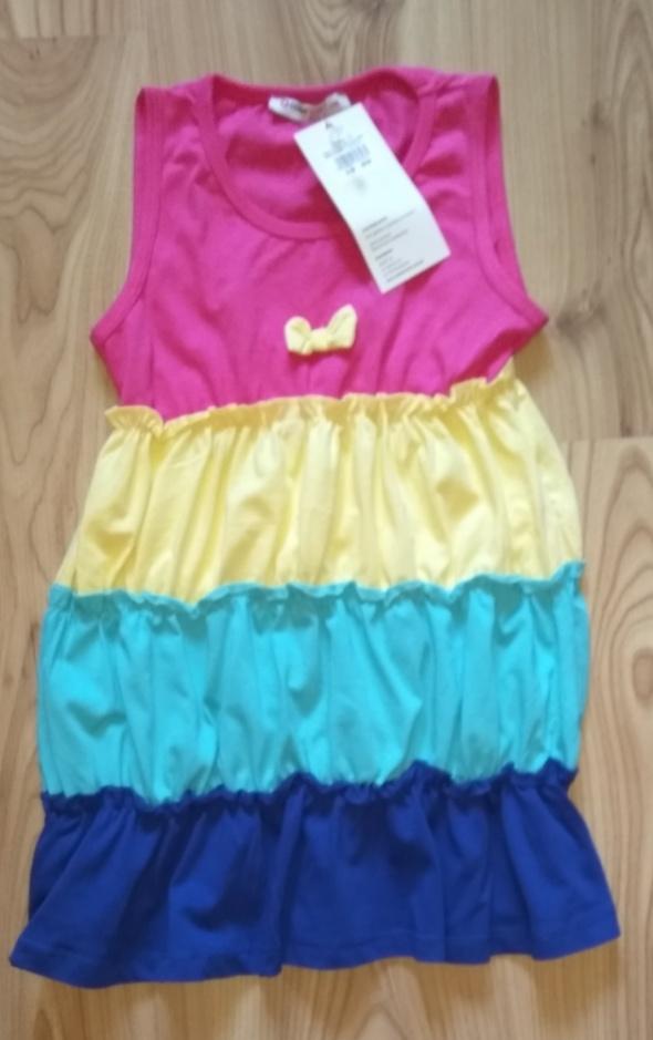 Nowa letnia sukienka dla dziewczynki 116