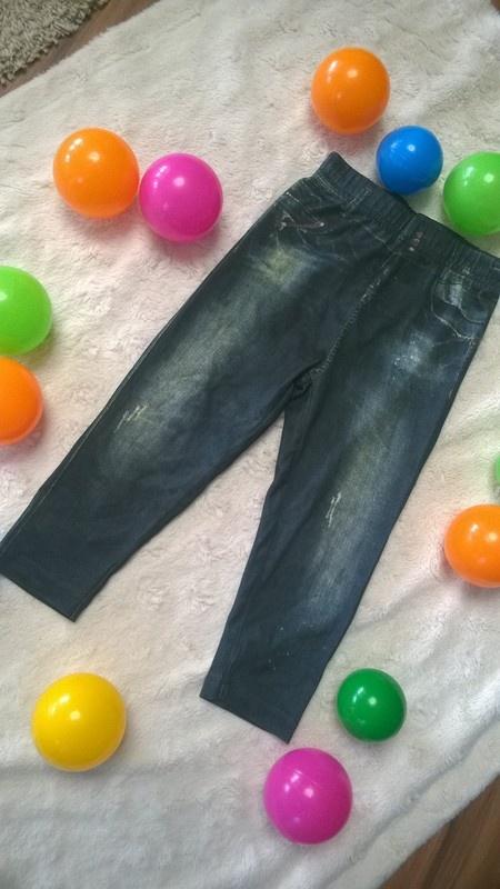 Legginsy jak jeansy dla małej modnisi...