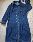 Jeansowy płaszcz trencz Apart Impressions S