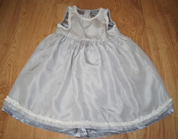 srebrzysta sukienka ok 110