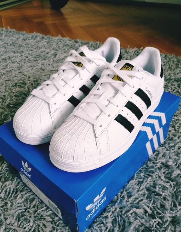Buty Adidas Superstar biało czarne Nowe