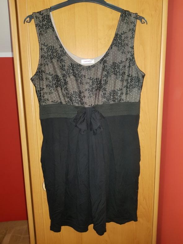 Suknie i sukienki Czarno kremowa sukienka