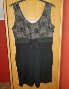 Czarno kremowa sukienka...