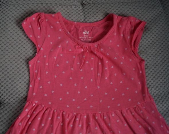 sukienka h&m róż 98 104