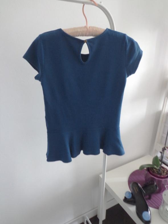 Bluzka baskinka niebieska zielona Mohito...