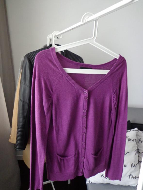 sweter swetr rozpinany vero moda S 36 fuksja fiole...