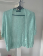 turkusowy niebieski miętowy sweterek sweter narzut...