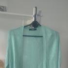 turkusowy niebieski miętowy sweterek sweter narzut