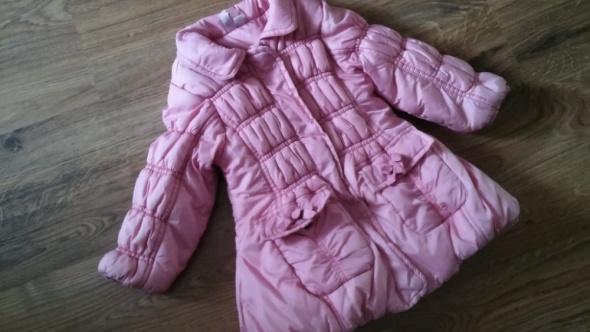 Zimowa różowa kurtka przeszywana