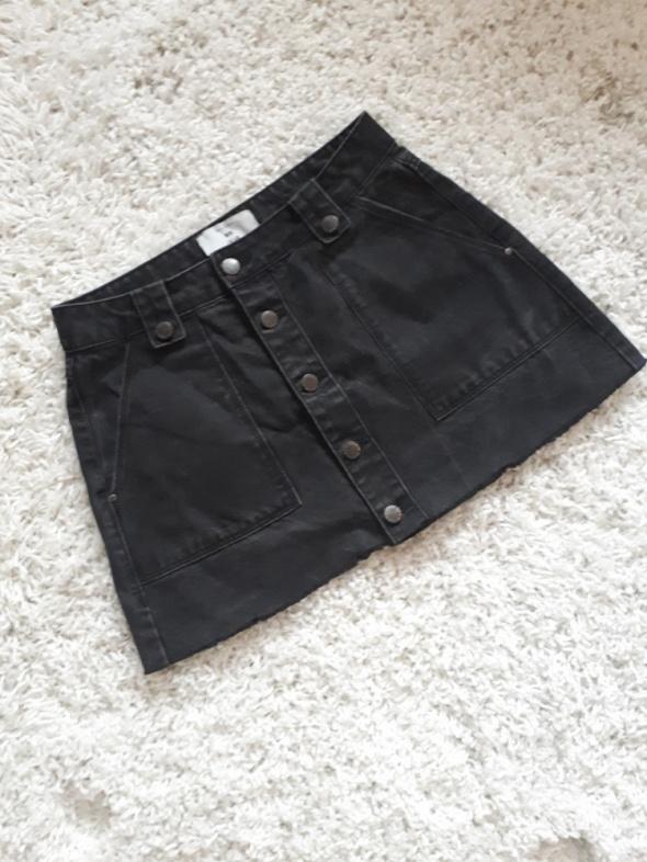 spódnica jeansowa guziki...