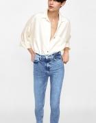 Zara nowe jeansy rurki z wysokim stanem high rise r 40...