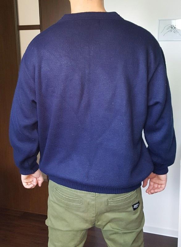 Granatowy sweter Polo Ralph Lauren rozmiar L XL streetwear olds...