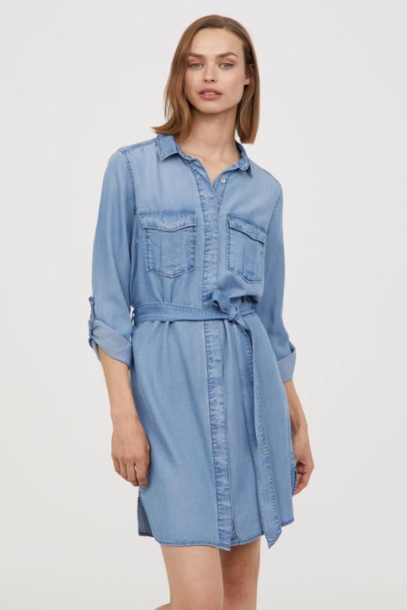 H&M krótka szmizjerka dżinsowa nowa z metką...