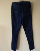 BIG STAR spodnie rurki zamki ozdobne