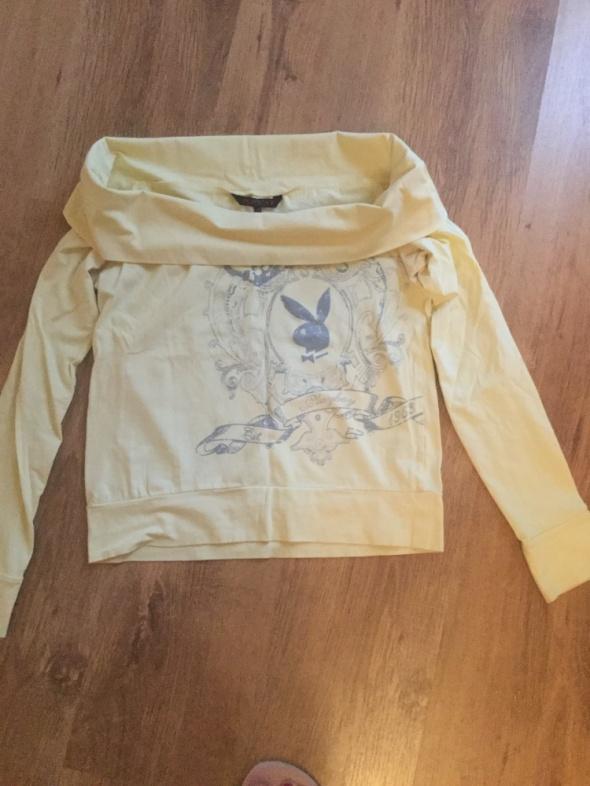 playboy original żółty longsleeve bluzka uk M