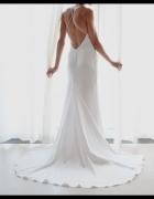 suknia ślubna 36 38 S biała klasyczna nowoczesna jak jedwab ory...