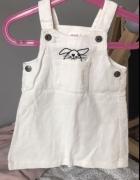 Sukienka biała królik 6 do12 miesięcy jak nowa dziewczynka ogro...