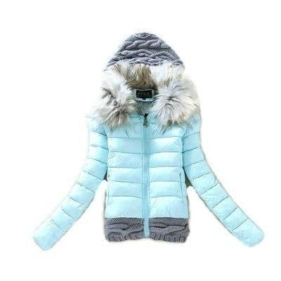 Błękitna sweterkowa kurtka...