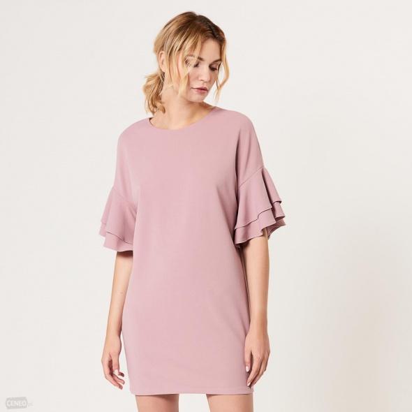 cb901033 Różowa sukienka Mohito oversize ciążowa w Suknie i sukienki - Szafa.pl