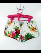 szorty floral hollister s...