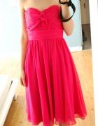 fuksjowa sukienka suknia...
