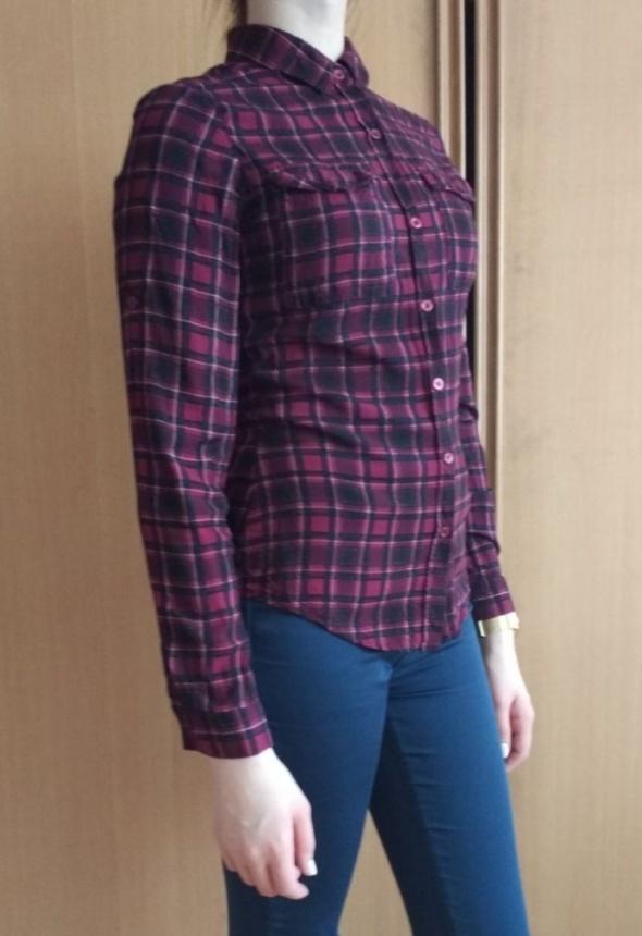 Bordowa koszula damska w kratę Top Secret XS...