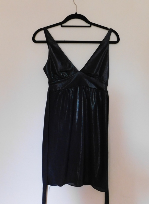 River Island czarna secy sukienka 36...