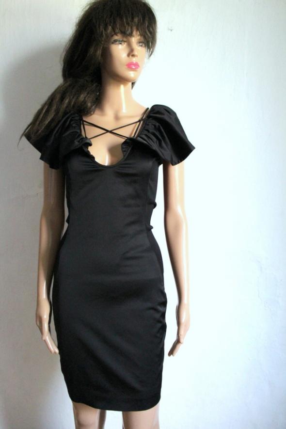 Czarna koktajlowa sukienka r M...