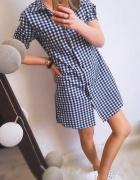 Tunika koszulowa w kratkę
