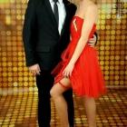 śliczna sukienka tiulowa czerwona impreza Sylwester studniówka