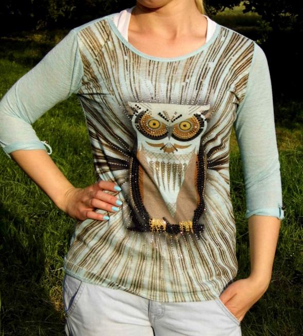 Bluzki Sowa sliczna bluzeczka w idealnym stanie modna