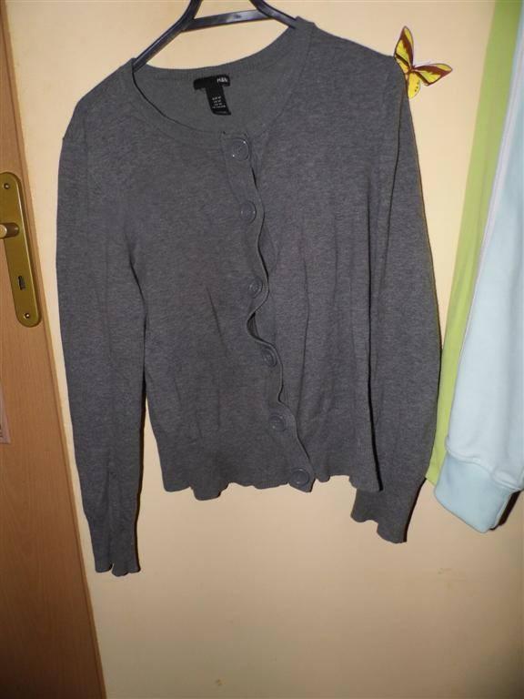 sweterek szary H&M okazja brak wad