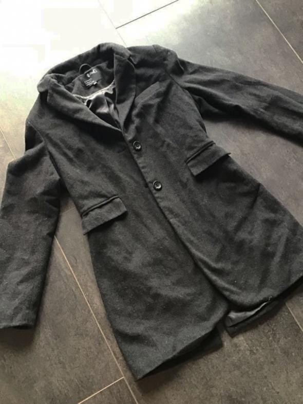 Płaszcz wełniany 38 40 M L czarny kurtka
