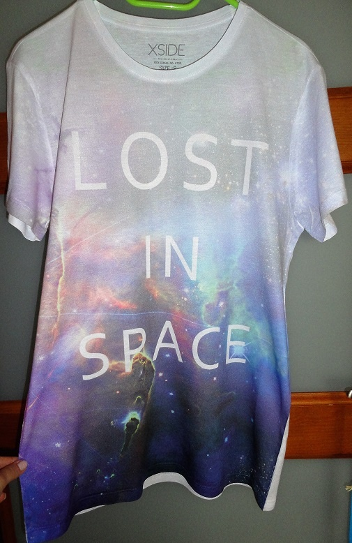 Tshirt space kosmiczny piękny koszulka oversize